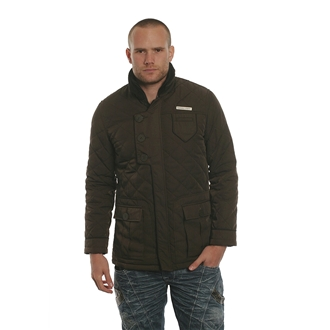 Mens 127 Nanny State Brown Quilted Jacket