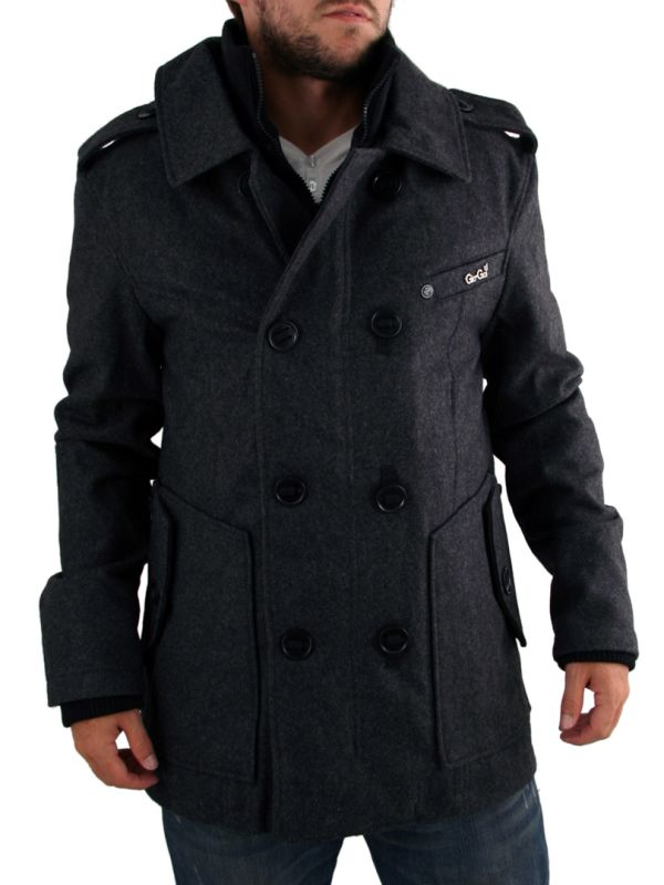 Mens Charcoal Grey Gio Goi Cadet Jacket