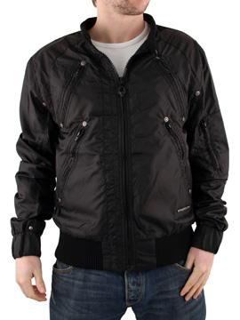 Mens Black Ringspun Bowstaff Jacket