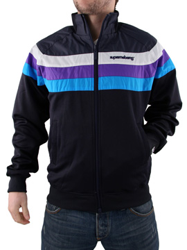 Mens Supreme Being Purple Track Jacket