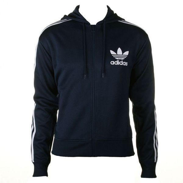 Mens Adidas Logo Indigo Blue Hoody Jacket