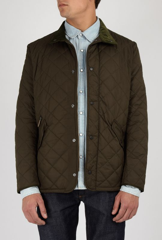 Mens Barbour Olive Green Chelsea Quilted Jacket