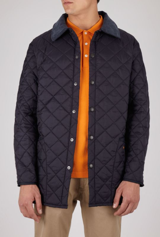 Mens Barbour Navy Blue Liddesdale Quilted Jacket