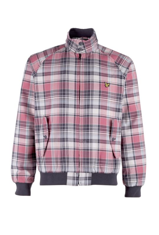 Lyle and Scott Harrington Jacket Dusty Pink Check