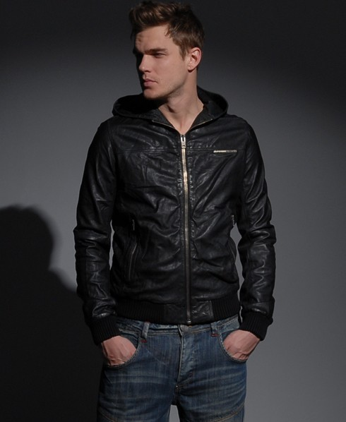 Black Superdry Bomber Jacket