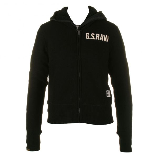 Mens G-Star RAW Black Hooded Jacket